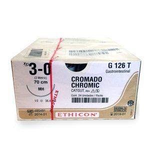 CATGUT CROMICO 3/0 AG MH AHUS C/24