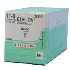 ETHILON 11/0 13CM AG BV-50-3 C/12