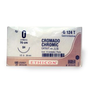 CATGUT CROMICO 1/0 AG SH AHUS C/24