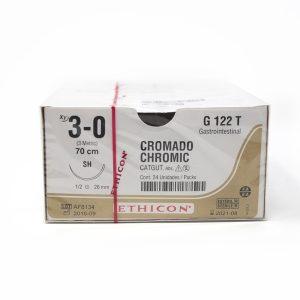 CATGUT CROMICO 3/0 AG SH AHUS C/24