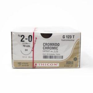 CATGUT CROMICO 2/0 AG SH AHUS C/24