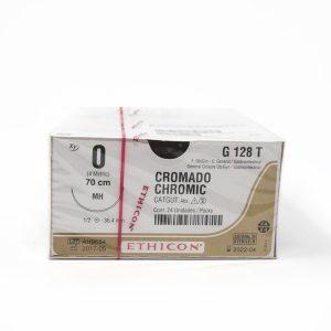 CATGUT CROMICO 1/0 AG MH AHU C/24