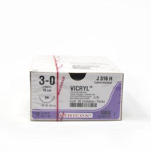 VICRYL 3/0 AG SH 1/2 CIRC AHS C/36