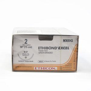 ETHIBOND 2 AG V-36 TAPERCUT C/12