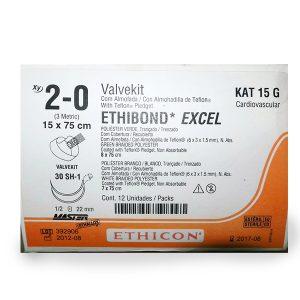 VALVEKIT ETHIBOND VERDE/BLANCO 2/0 C/12
