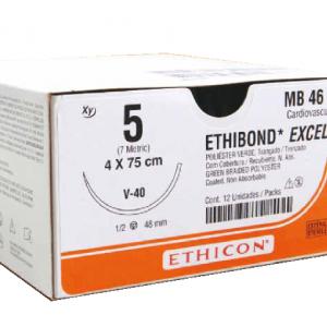 ETHIBOND 5 AG V-40 TAPERCUT C/12