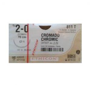 CATGUT CROMICO 2/0 AG CT-1 AHS C/24