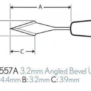 3.2MM SLIT KNIFE STR ANGULADA C/6
