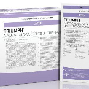 GUANTE ESTERIL DESECHABLE PARA CIRUJANO TRIUMPH MEDIDA 7½ C/4 C/50