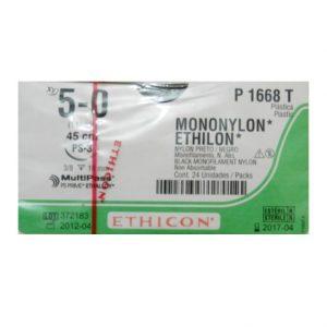 ETHILON 5/0 AG NG 45CM PS-3 C/24